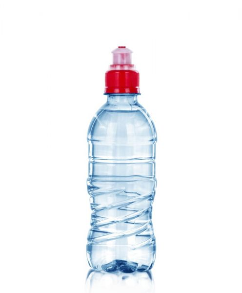 Sports cap with push pull top on a plastic bottle that can be used to unblock a sink with pressure irrigation